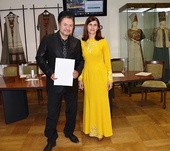 Вместе с Президентов Фонда Государство Алания З. П. Чельдиева