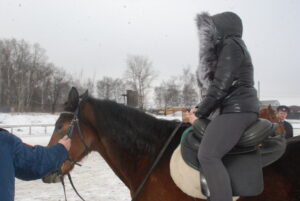 женщина верхом на лошади